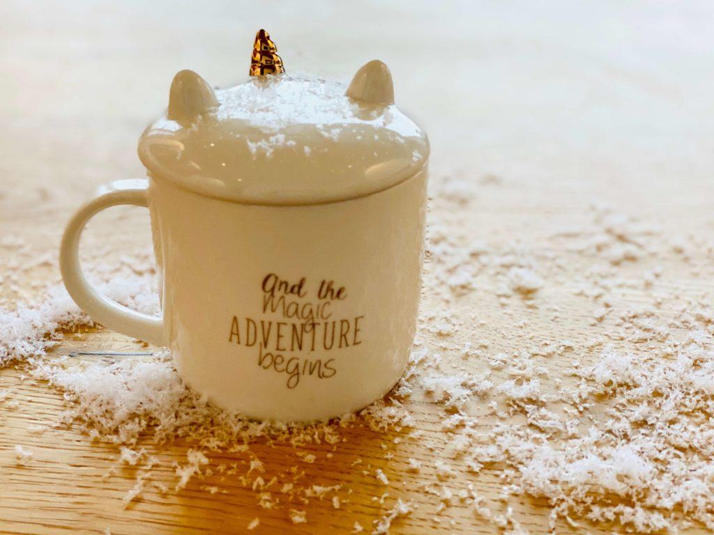 Weihnachtstraditionen Einhorntasse heisser Kakao mein Liebchen